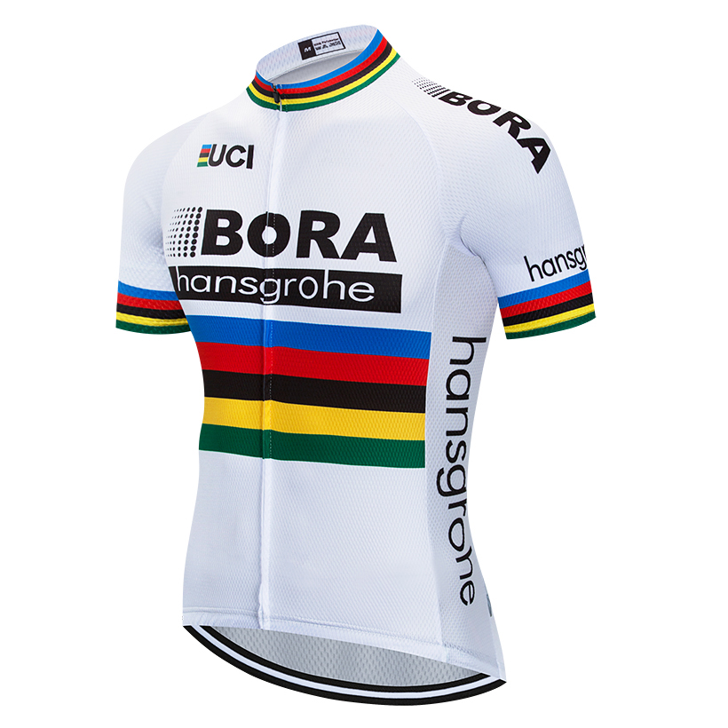 цена на 6 Color Team BORA 2018 Cycling Jersey Tops Summer Racing Cycling Clothing Ropa Ciclismo mtb Bike Jersey Shirt Maillot Ciclismo