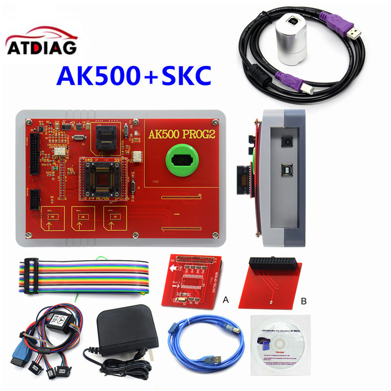Newest AK500+ AK500 Key Programmer With EIS SKC Calculator AK500 Pro for M ercedes AK500 Key Programmer-in Auto Key Programmers from Automobiles & Motorcycles on
