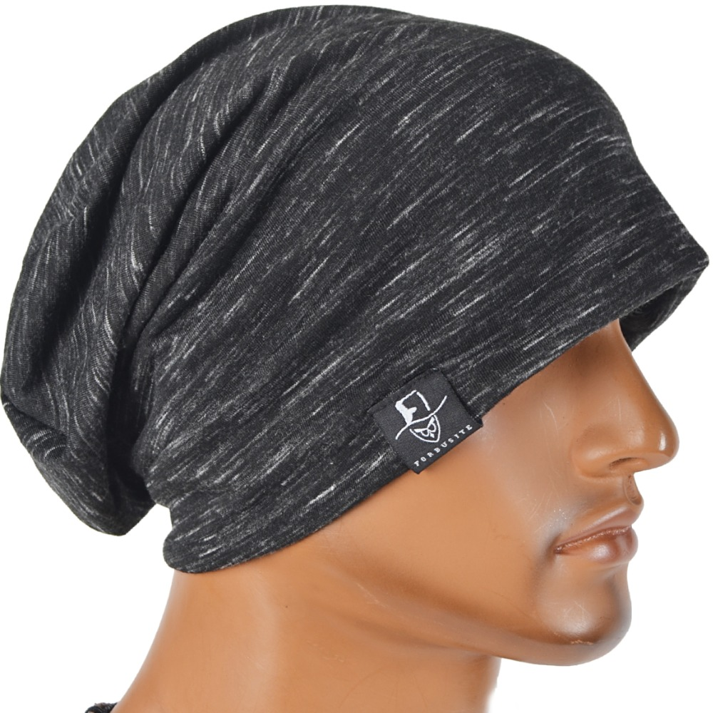 Men Slouch Thin Beanie Large Skullcap Cool Daily Cap Summer Hat ...