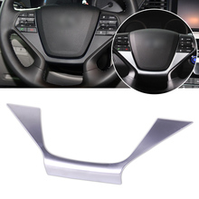CITALL Car Styling Interior Chrome Plated Steering Wheel Panel Cover Badge Trim Fit For Hyundai Sonata / i45 (LF) 2015 2016 2017