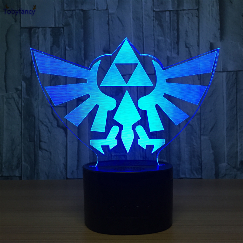 Tobyfancy The Legend of Zelda LED Table Lamp Creative 3D USB Link Figure Touch Illusion  ...