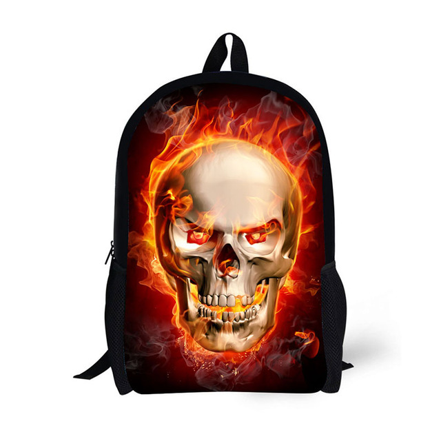 c69d35bee00a School backpack children backpack Horror evil skull creative pattern  classic Printing for High School Backpacks for