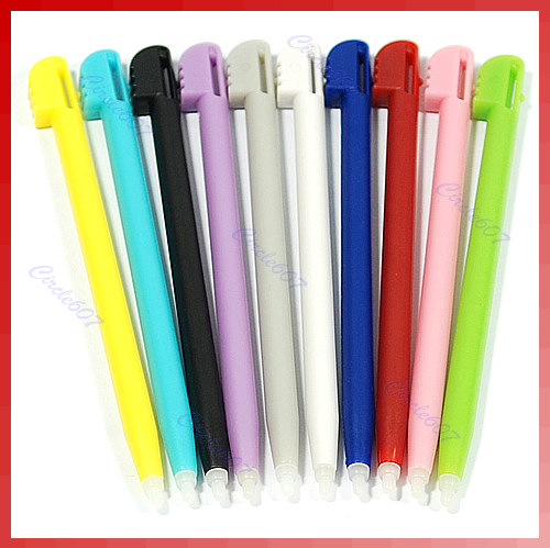 10PCS Color Touch Screen Stylus Pen For NDS NINTENDO DS LITE metal retractable replacement stylus for nds lite 4 pack