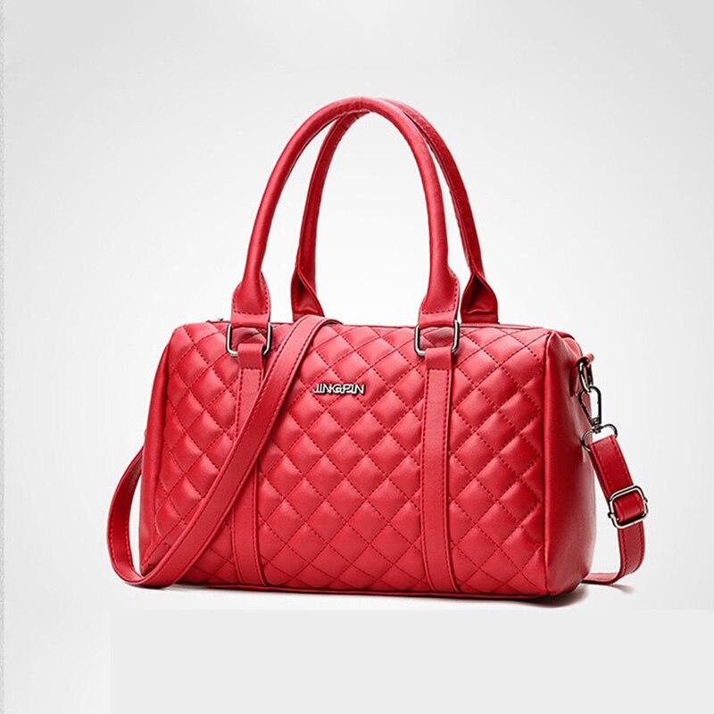 Ruique nouveau femmes mode sac à main de haute qualité PU cuir Lingge impression sacs fourre-tout dames oreiller en forme décontracté sac à bandoulière