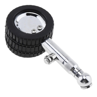 Motocycle medidor de pressão do pneu de ar do carro dial medidor metal roda pneu tester 45*29*105mm 0-60psi alta qualidade