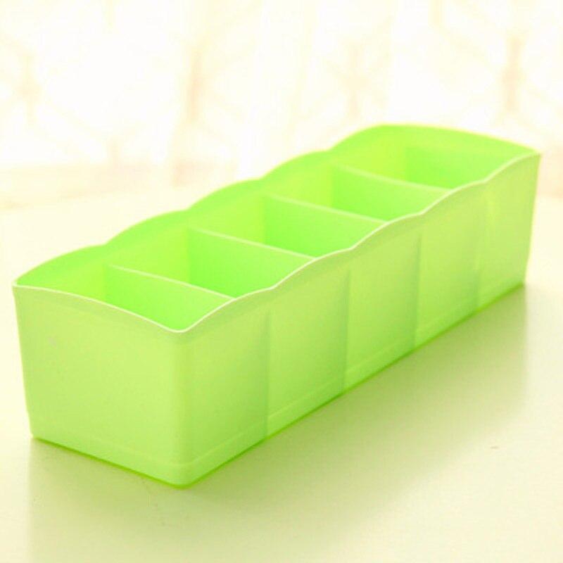 Пластик 5 решеток Организатор галстука Бюстгальтер Носки Ящика Делитель Коробка для хранения