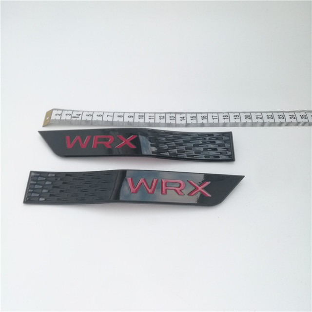 2 unids/set para Subaru WRX STI nueva insignia 3D decoración Fender pegatinas de faldones coche guardabarros pegatinas coche estilo