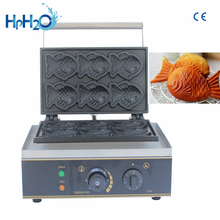 Commercial Non-stick 6 pcs taiyaki machine fish waffle maker fish shaped waffle iron cake making machine high efficiency commercial gas double plate 12pcs fish taiyaki waffle maker machine taiyaki maker commercial