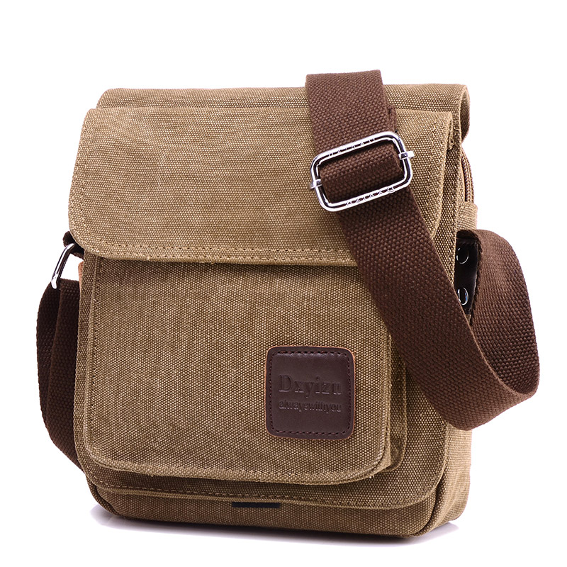 2016 New Canvas Men Messenger Bags Casual Small Shoulder Crossbody Bag Solid Zipper Unisex Flap Bag