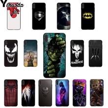 Yinuoda Marvel Superman Venom Shield Spiderman LOGO TPU Soft Phone Case Cover for Apple iPhone 8 7 6 6S Plus X XS MAX 5 5S SE XR