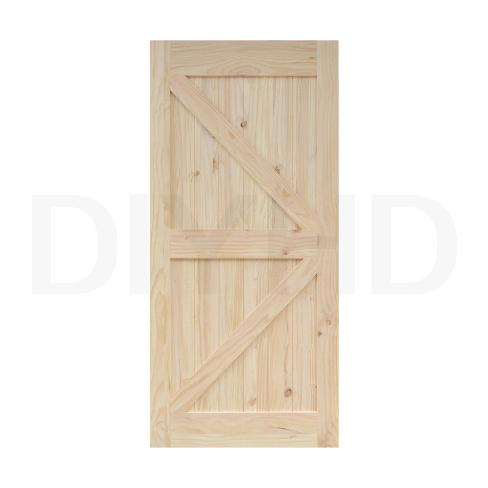 Diyhd 38in 84in Pine Knotty Sliding Barn Wood Door Slab