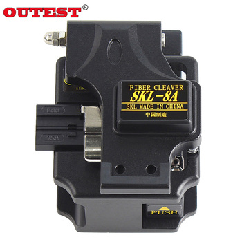SKL-8A Fiber Cleaver electrical wire cable cutters Bare Fibre Optic Fiber Cable Triple Fiber Knife Black