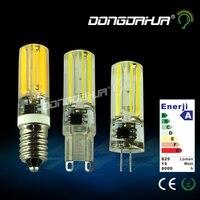 לומן גבוה סיליקון מיני g4 g9 e14 2508 מנורת led led כדי 220 v dimmerabile led מנורת הנורה מנורת נברשת 360 אורות קרן זווית