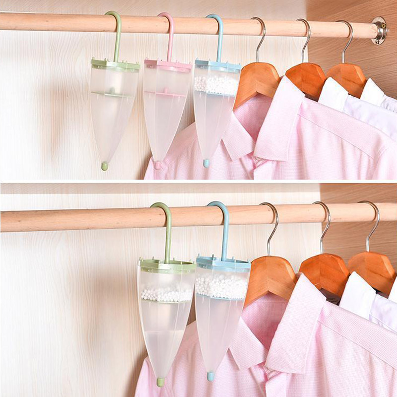 Wardrobe Hanging Dehumidifier Damp Trap Umbrella Shape Air Moisture Mildew Absorb Store