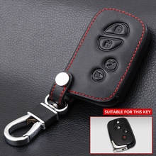 4 botões remoto couro genuíno chave fob capa para lexus is250 es240 es350 rx270 rx350 rx300 keyless titular