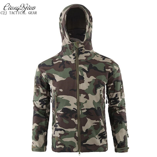 eb69d6e946c9 New Army Camouflage Coat Military Jacket Waterproof Windbreaker Raincoat  Hunt tactical Clothes Men Outerwear Jackets And