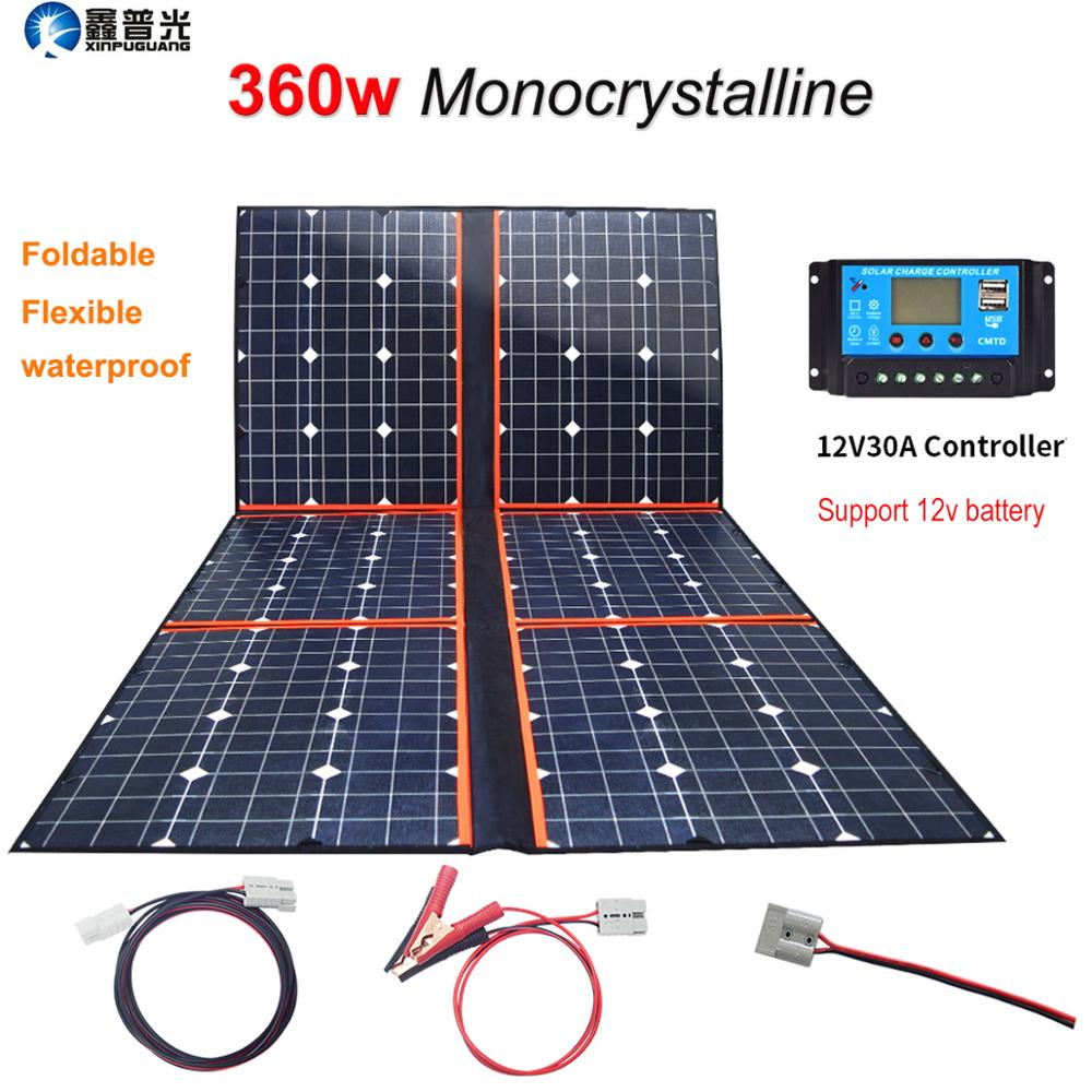 18v 80w ETFE Solar Panel Solar Kit Caravan Camping Power Battery RV Home Charger