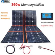 xinpuguang 360W ETFE Flexible Foldable Solar Panel Kits 18V Portable 300w USB Charger For 12V RV Car Home Camping Hiking Boat