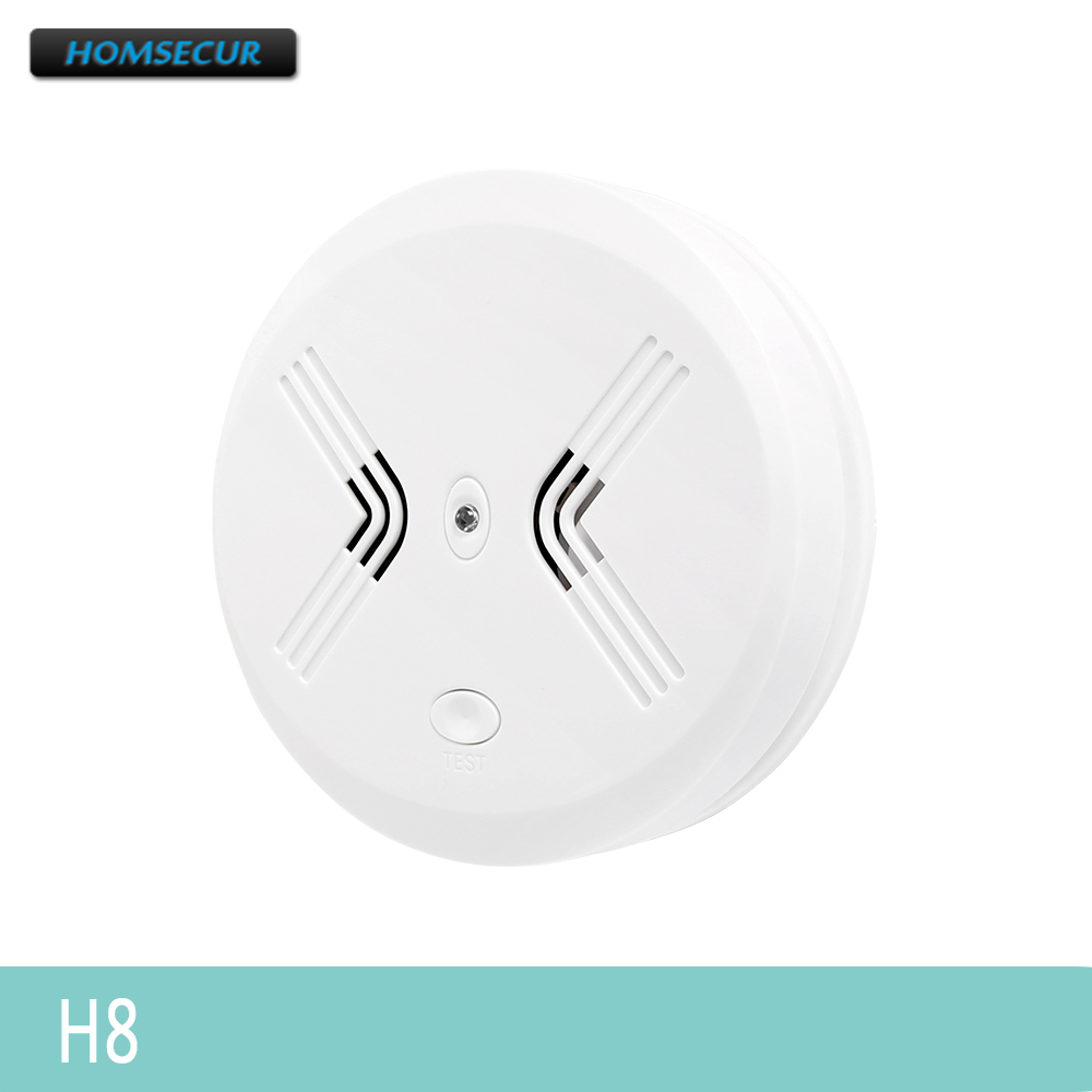 HOMSECUR 433MHz H8 Wireless Smoke Sensor 95dB For Our Home Alarm System