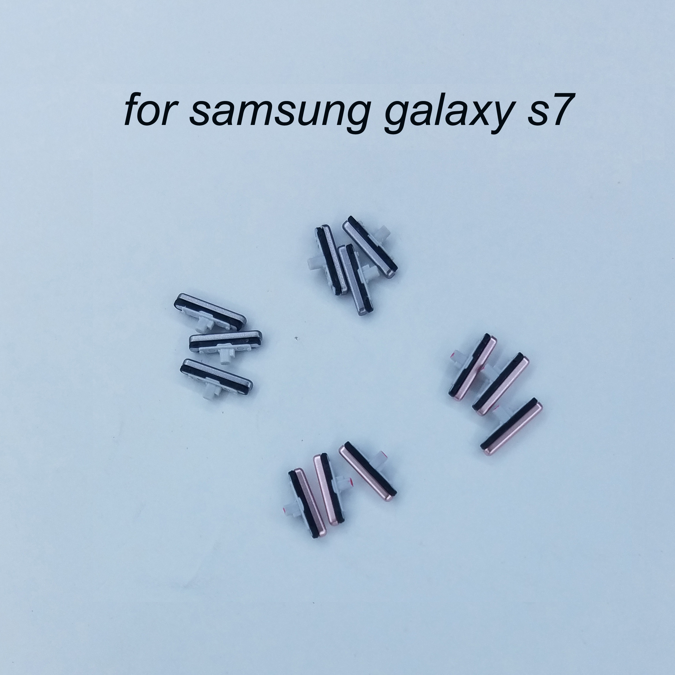 For Samsung Galaxy S7 G930 G930F S7 Edge G935 G935F Original Phone Housing New On Off Key Flex Cable Power Volume Button Pink