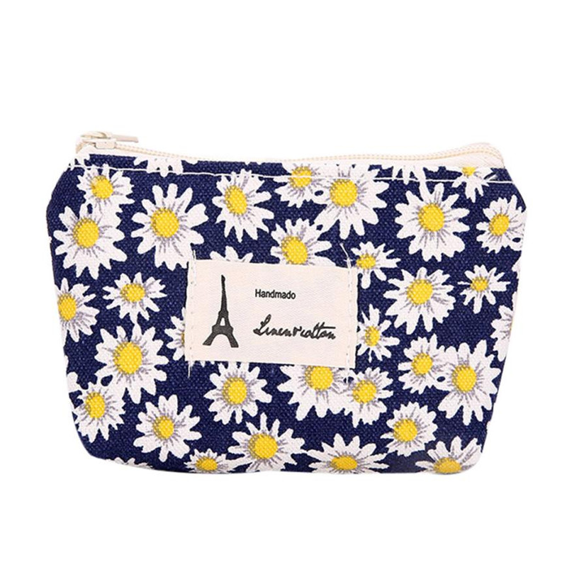 Women Girls Cute Floral Fashion Coin Purse Wallet Bag Change Pouch Key Holder Canvas women bag monederos para monedas 223#15