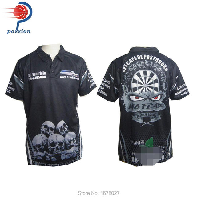 super popular 87f0e 2913a US $130.0 |Adul's Team Black Dart Shirts with Sponsor Logo Skull images-in  Trainning & Exercise Polo from Sports & Entertainment on Aliexpress.com |  ...