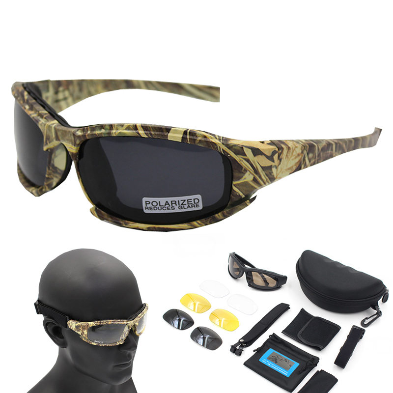 Óculos de Sol polarizados Camuflagem Esporte Armação de Óculos de Sol de Pesca Óculos Oculos de sol Masculino