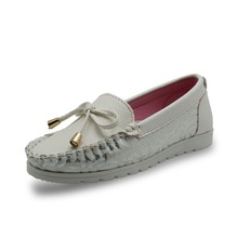 Girls Soft PU Leather Slip-on Loafers