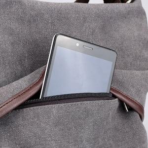 Image 4 - KVKY mochila de lona para mujer, estilo pijo morral escolar, de viaje, informal, 2020