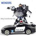 Сплав высокое качество Robocar робот трансформация автомобиля игрушки сплав деформации робот автобус игрушки для детей рождественские игрушки