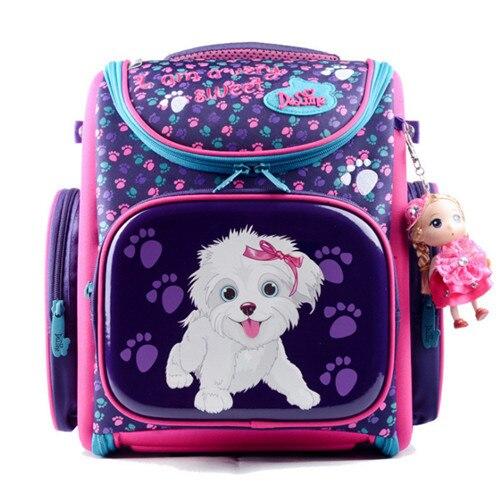 Delune Милые Дети Ортопедические рюкзак школы для девочек нейлон ортопедические рюкзак школьный ортопедические школьные сумки Складной