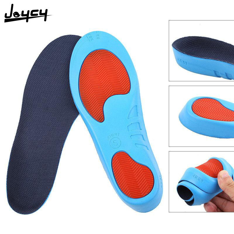 1PairExercise Correctional Insoles Men And Women PU Cushioning And Anti-Shock Running Basketball Insoles Anti-Stink Cushion Soft