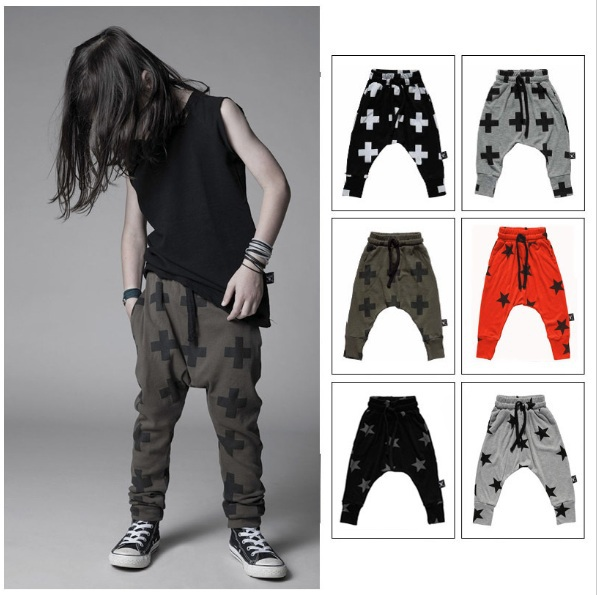 Kikikids Unisex Nununu Cross Star Pattern Pants W 6 Colors