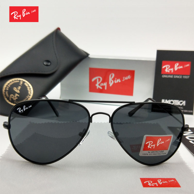 Ray Bin Sol Piloto Aviador óculos de sol Dos Homens Das Mulheres Designer  de Marca polarizada 0d20d96fd2