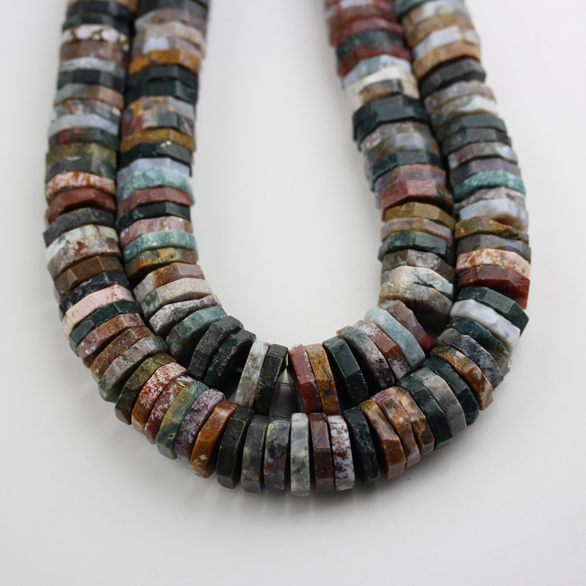 Full Strand India Agates Stones Loose Beads,Drilled Heishi Slabs Cuts Beads Jewelry Making,18 22mm