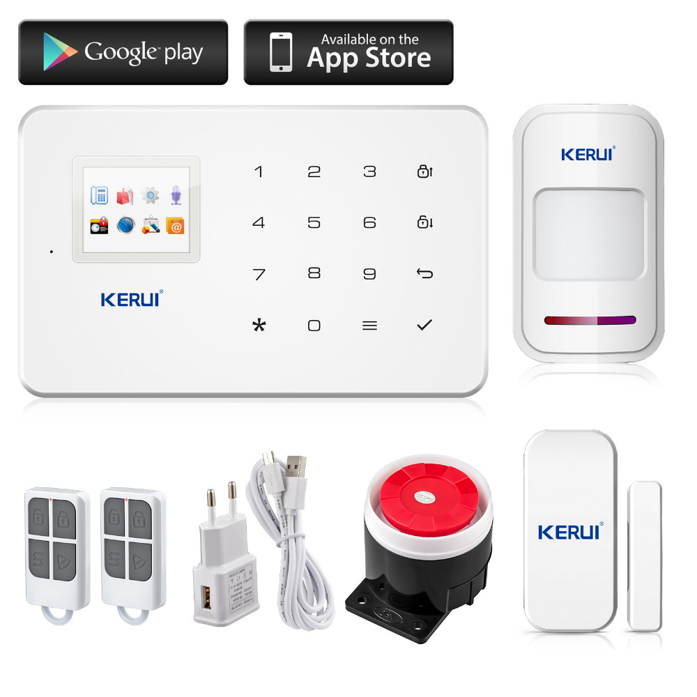 font b Kerui b font G18 Android App iOS App control wireless security system gsm