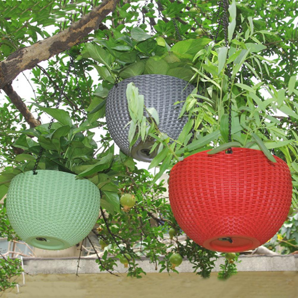 Image 4 - Rattan Waven Baskets Innovative Succulents Pots Hanging Pots Flower Balcony Garden Plant Basket Flower Plant Decoration-in Flower Pots & Planters from Home & Garden