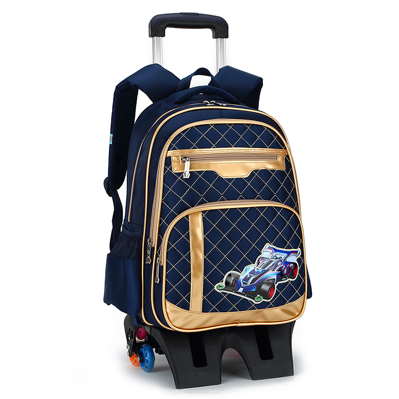 Trolley Backpack For Children School Bag Detachable Wheels Backpacks For Girls Escolar Mochila Infantil Com Rodinha Menino Bolso delune new european children school bag for girls boys backpack cartoon mochila infantil large capacity orthopedic schoolbag