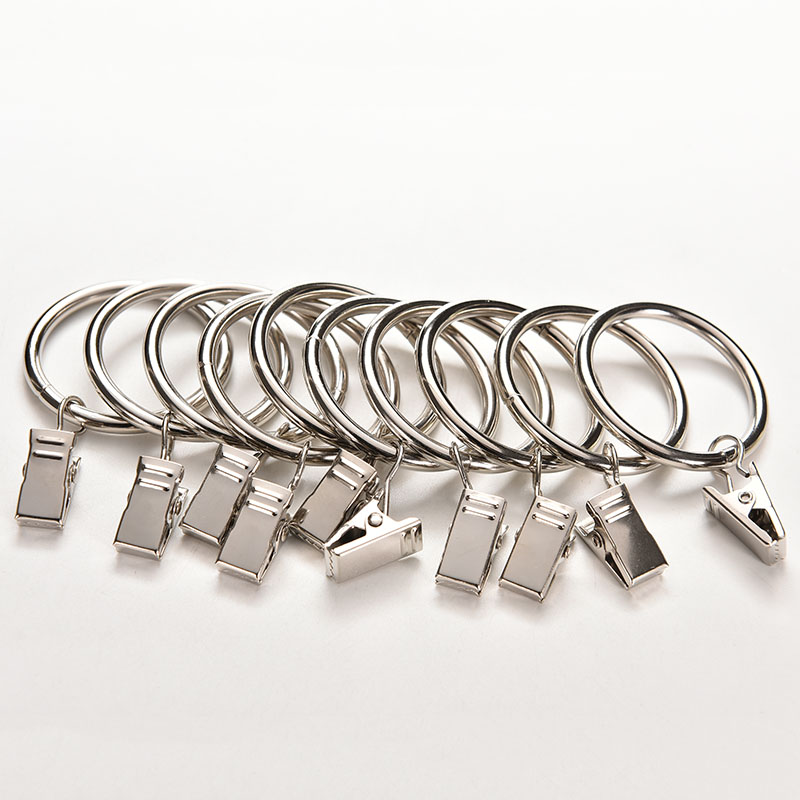 Jetting NEW 10PCS/lot Unmovable Stainless Steel Curtain Rod Clips Window Shower  Curtain Rings Hanging Clamp Ring Drapery Clips In Bath Hardware Sets From  ...