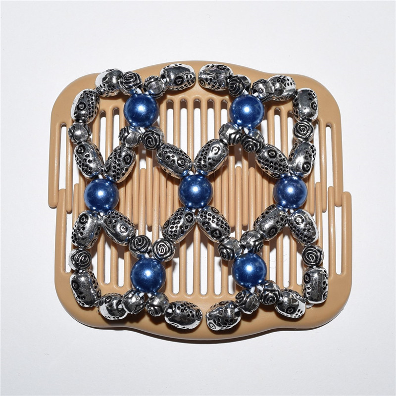 standard comb blue and silver beads 20pcs/lot african butterfly magic comb