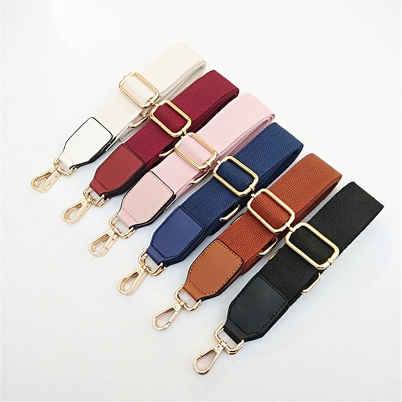 130cm Canvas Shoulder Straps For Shoulder Crossbody Bag Adjustable Belts Solid Wide Strap Women Fm Bag Accessories  Purse Chain