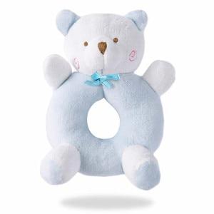 Image 4 - Newborn Cartoon Baby Boy Girl Rattles Infant Animal Hand Bell Kid Plush Toy Development Gifts Toddler Baby Toys 0 12 months