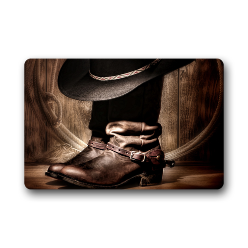 Cowboy Kitchen: Memory Home American West Rodeo Cowboy Black Hat And Boots