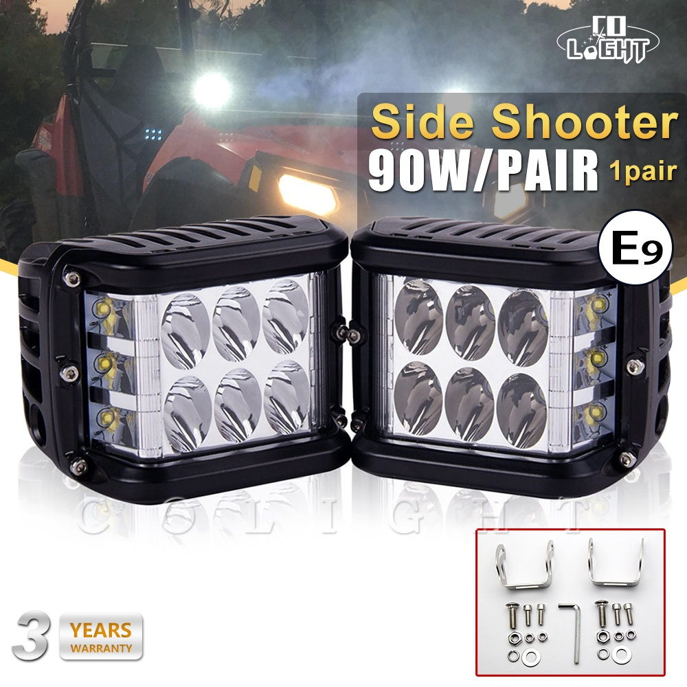 CO LIGHT 4Inch Led Light Bar 45W LED Work Light 12V 24V SPOT FLOOD FOR 4x4 OFFROAD ATV TRUCK BOAT UTV Auto Driving Light Led Bar 22 inch led bar offroad 120w led light bar off road 4x4 fog work lights for trucks tractor atv spot flood combo led lightbars