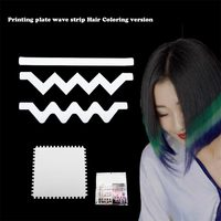 2017 New Hot Professional Plastic Salon Hair Dye Printing Plate DIY Wave Strip Hair Color Template