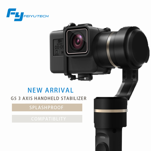 FeiyuTech official store  fy G5 3-axis handheld gimbal for gopro hero 5 and other action cameras splashproof FY G5 gimbal