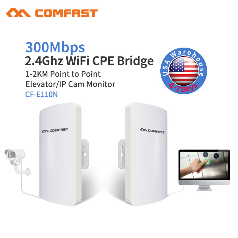 Outdoor Wireless Wifi Repeater/Router 300mbps 2.4G Wi-fi Signal Amplifier AP Access Point 11dbi Antenna Signal Network Extender outdoor powerful 1300mbps gigabit weatherproof repeater wifi extender access point router wisp antenna directional wi fi ap