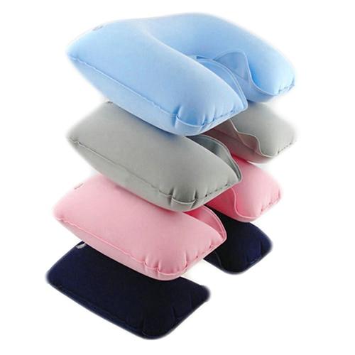 HOT Inflatable Soft Car Head Neck Rest Compact Air Cushion U Pillow Flight Travel 91RT