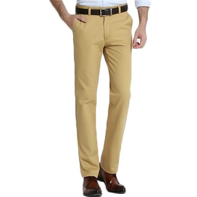 Pantalones de Los Hombres Pantalones de Algodón Casual Hombres de Negocios Delgado Pant Primavera ZMF879653