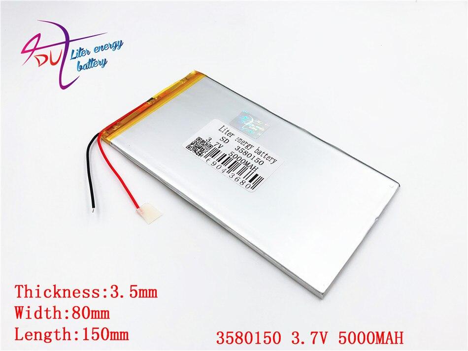 FäHig 1 Pcs Große Kapazität Polymer Lithium-batterie 3580150 3,7 V 5000 Mah Handheld Computer Lade Schatz Allgemeinen Tablet Pc Gut FüR Antipyretika Und Hals-Schnuller Batterien